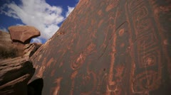 PetroglyphTiltUp 24fps Stock Footage