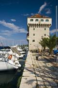 The medival Marina tower - stock photo