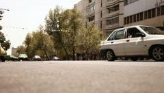 Vali-e Asr street. Low angle. Stock Footage