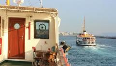 Pleasant Istanbul journey by traditional ferries Stock Footage