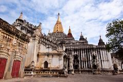 ananda temple in bagan, myanmar - stock photo