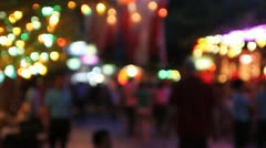 Timelapse evening street out of focus Stock Footage