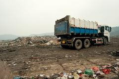 Waste disposal sites, china Stock Photos