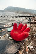 Waste disposal sites, china Stock Photos