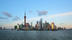 "Shanghai from day to night, zooming timelapse.>>>Search: ""ShanghaiSkyline"" Stock Footage"