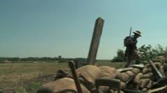WW1 British soldier in Summer1 - stock footage