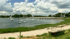 Protected cove on Cape Cod Stock Footage