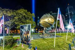 911 Memorial in New York City - stock photo