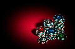 Gambling chips Stock Photos