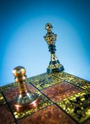 chess checkmate - stock photo