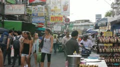 Timelapse busy street Bangkok Thailand Stock Footage