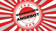 Stock Video Footage of Weihnachtsangebot