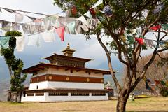 Chimi lhakhang temple, punakha, bhutan Stock Photos