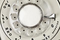 Stock Photo of dial retro phone