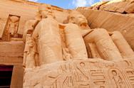 Stock Photo of temple of rameses II in abu simbel, egypt