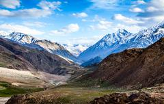 spiti valley - stock photo