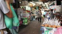 Timelapse busy shopping alley Thailand Stock Footage