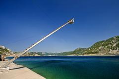 Tuna fishing tower near Bakar - stock photo