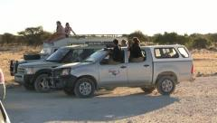 Safari vehicles - stock footage