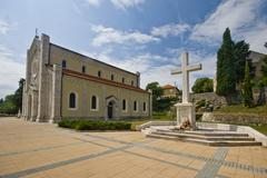 Parish church of Our Lady of Rosary - stock photo