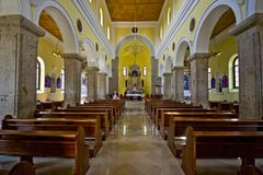 Interior of church of Our Lady of Rosary - stock photo