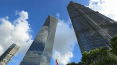 Time lapse of modern skyscrapers Stock Footage