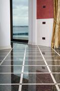 Clean dalle floor Stock Photos