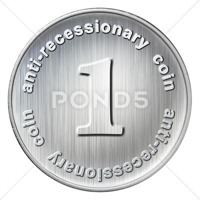 Stock Illustration of anti-recessionary coin