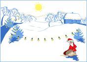 Winter day Stock Illustration