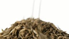 Cumin or caraway seeds - stock footage