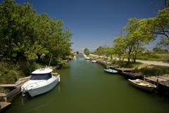 Shipping canal in Nin Stock Photos