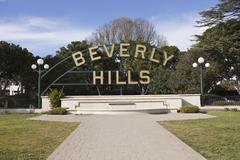 beverly hills - stock photo