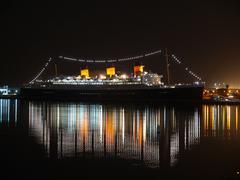 Queen mary night Stock Photos