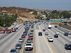chatsworth freeway closure - stock photo