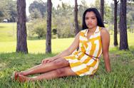 Cute teen latina outdoors (8) Stock Photos
