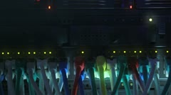Network Hub blue toned Stock Footage