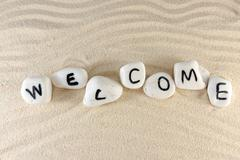 Stock Photo of welcome word