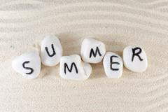 Stock Photo of summer word