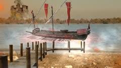 Genoese ship Stock Footage