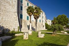 Medival Prince`s palace in Sibenik - stock photo