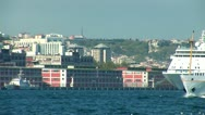 Stock Video Footage of Bosphorus ships c