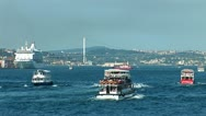 Stock Video Footage of Bosphorus trafic