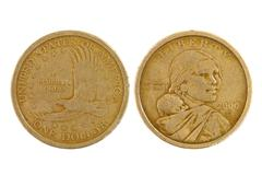 One american dollar. Stock Photos