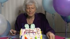 Time Lapse Senior Birthday Fun Stock Footage