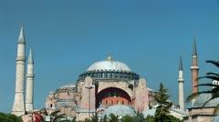 Aya Sofya (Hagia Sophia) b Stock Footage