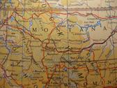 Map montana, treasure state Stock Photos