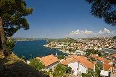 View on the Sibenik and the canal Stock Photos