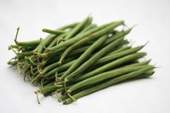 Haricots verts - common green beans Stock Photos