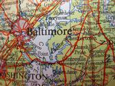 Stock Photo of map of baltimore, maryland