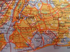 map of new york city - stock photo